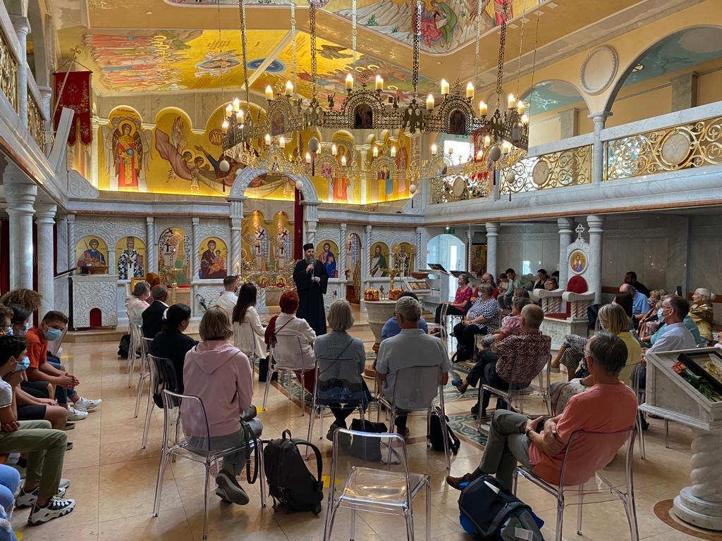 Пријем у Успенском храму у Цириху