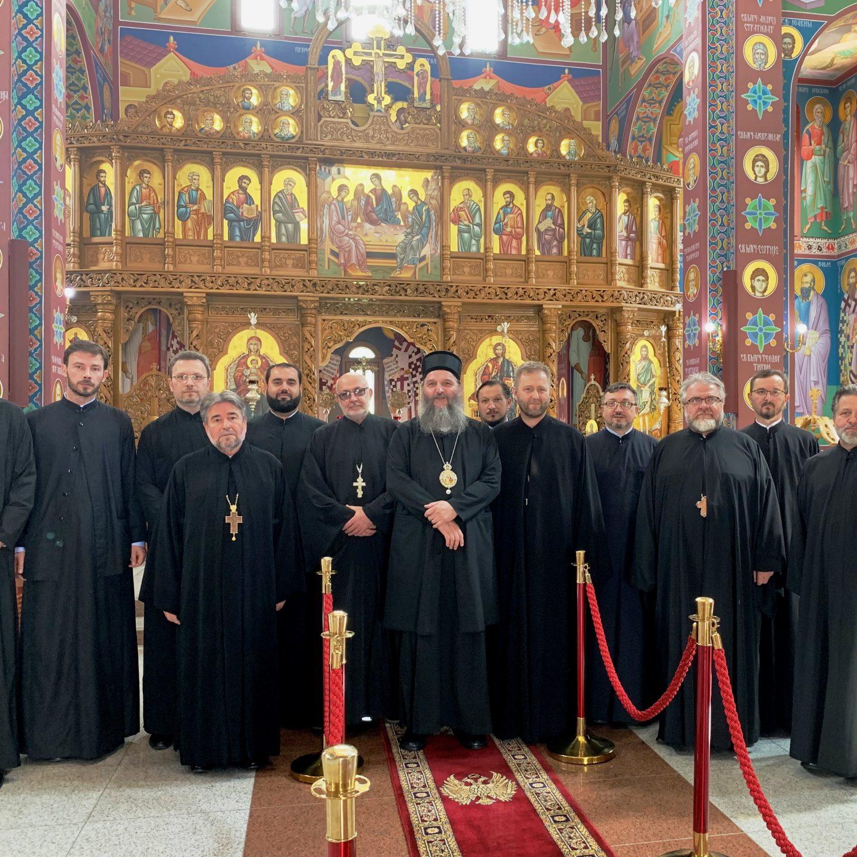 Састанак свештенства и пријем у Белпу код Берна