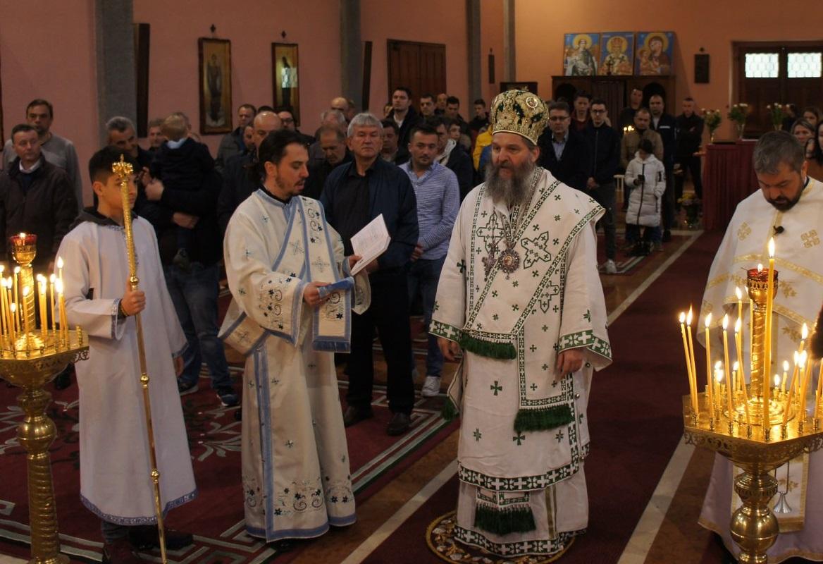 Посета Епископа Андреја миланској парохији