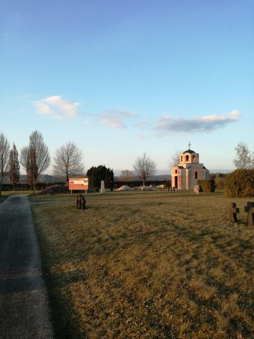 Епископ Андреј обишао радове на спомен-капели у Маутхаузену