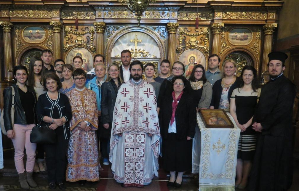 Новоосновани хор СПЦО Светога Саве на Литургији у Саборној цркви