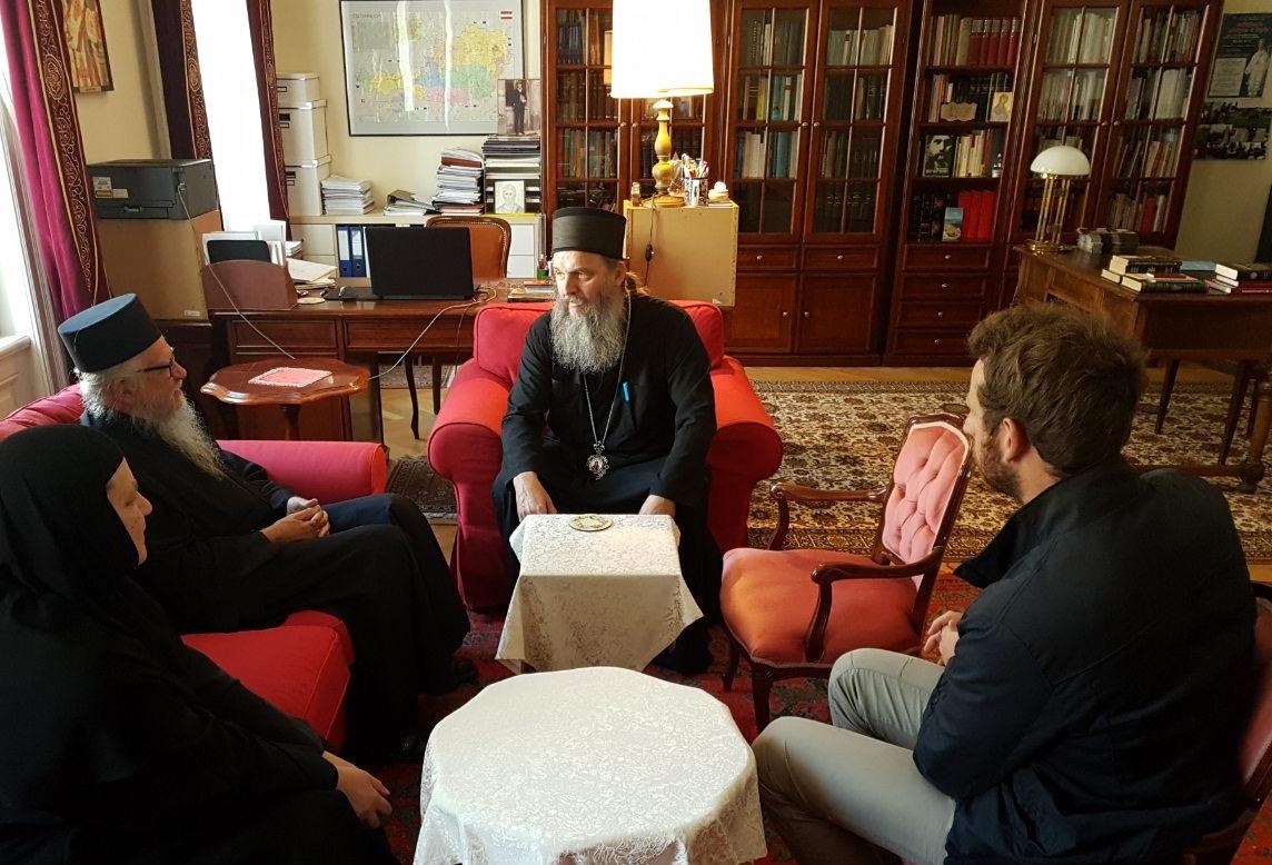 Архимандрит Илија Раго у посети Епископу Андреју