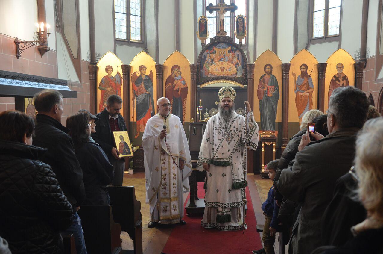 Архијерејска литургија у Базелу