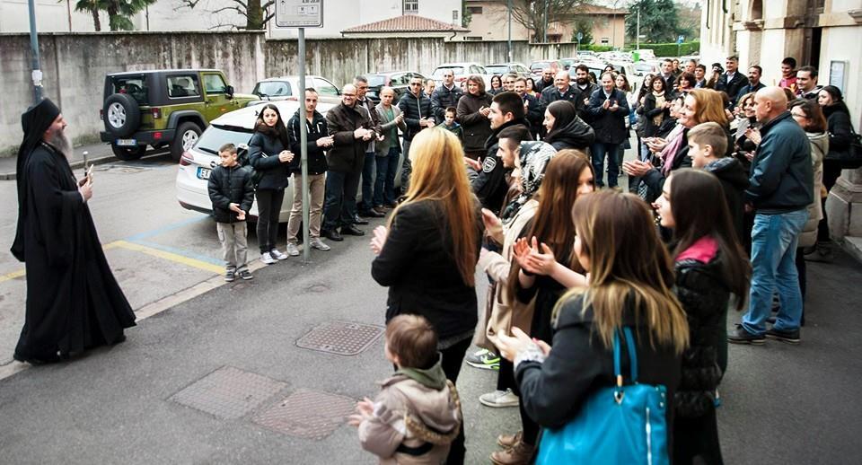 Посета Епископа Андреја Црквеној Општини и Парохији у Вићенци