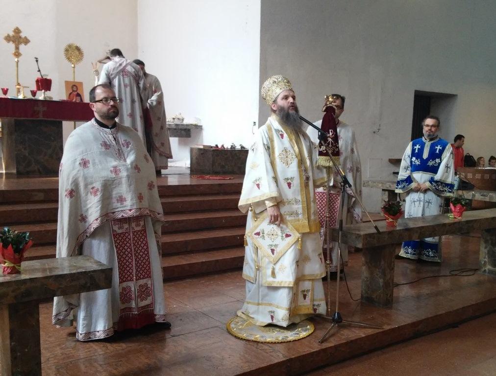 Празник Силаска Светог Духа у храму Рођења Пресвете Богородице