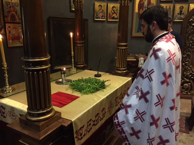 Изношење Часног Крста и мало водоосвећење у Саборној цркви