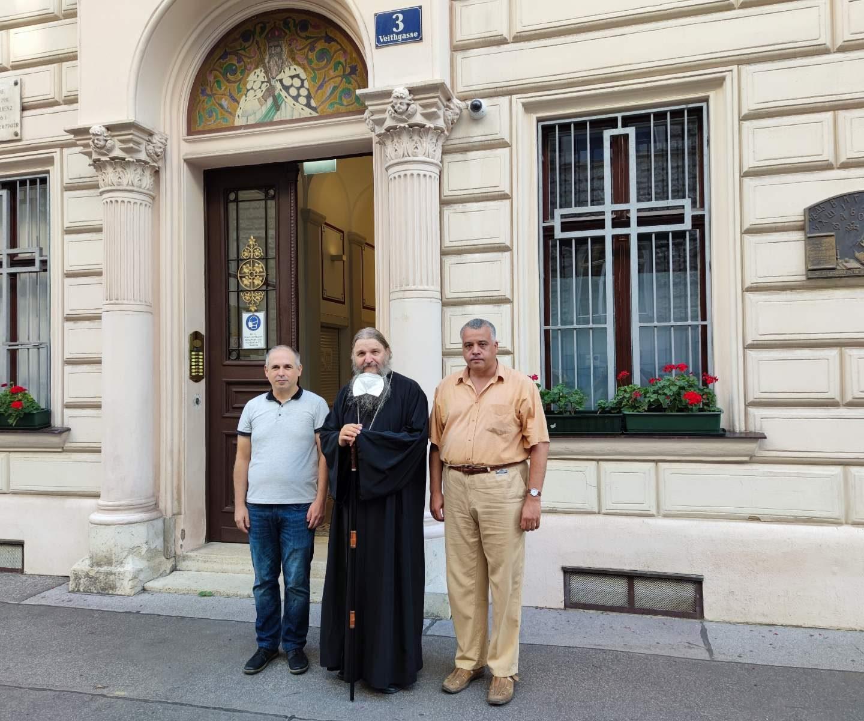 Делегација Архива Војводине код владике Андреја