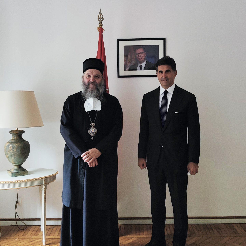 Bischof Andrej besuchte den Botschafter Goran Aleksic