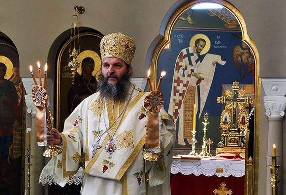 Владика Андреј служио у манастиру Ваведење