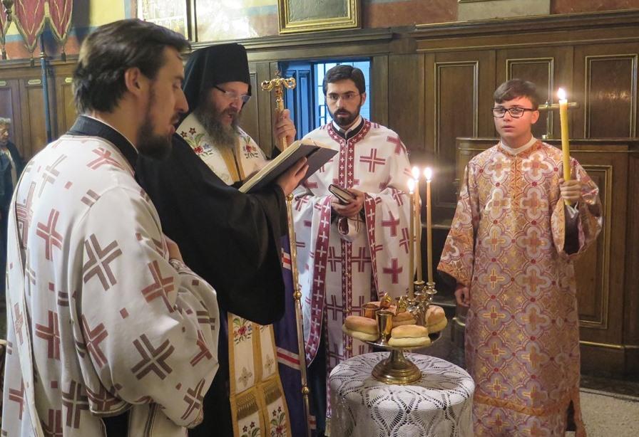 Празнично вечерње уочи Петровдана у Саборној цркви
