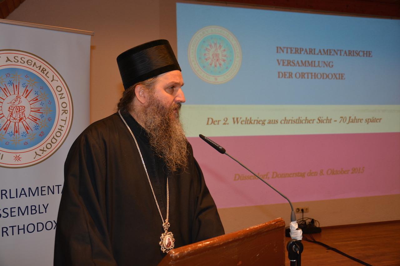 Епископ Андреј на конференцији Међупарламентарне скупштине Православља у Диселдорфу