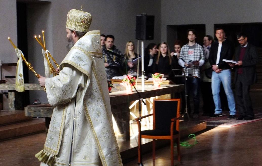 Литургија Велике суботе у храму Рођења Пресвете Богородице