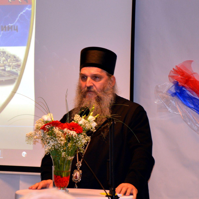 Епископ Андреј на свечаностима у клубу Никола Тесла – Линц Језик, веза међу народима