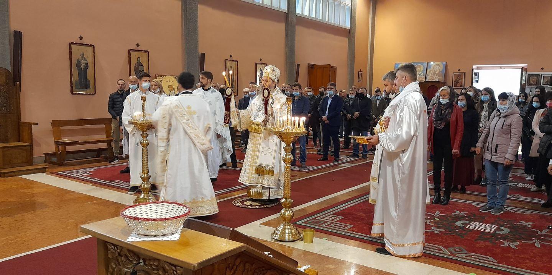 Feier des Schutzheiligen der Kirche in Mailand