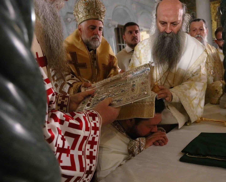 Изасланик Епископа Андреја на хиротонији Епископа хумског г. Јована