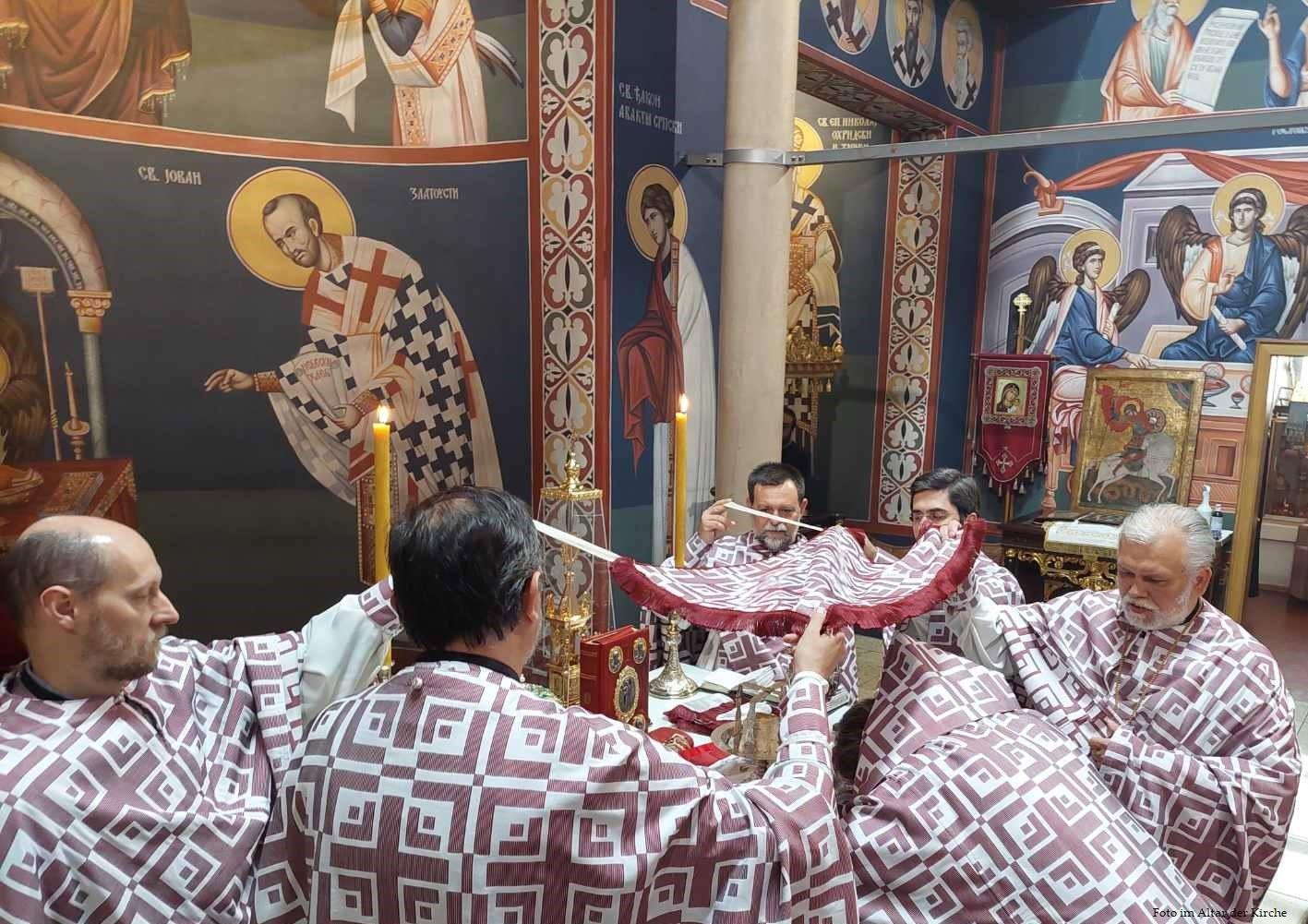 Pfingstmontag in der Kirche zur Auferstehung Christi in Wien