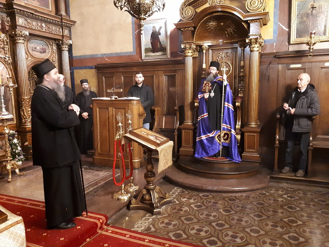 Епископ жички Г. Јустин у Бечу