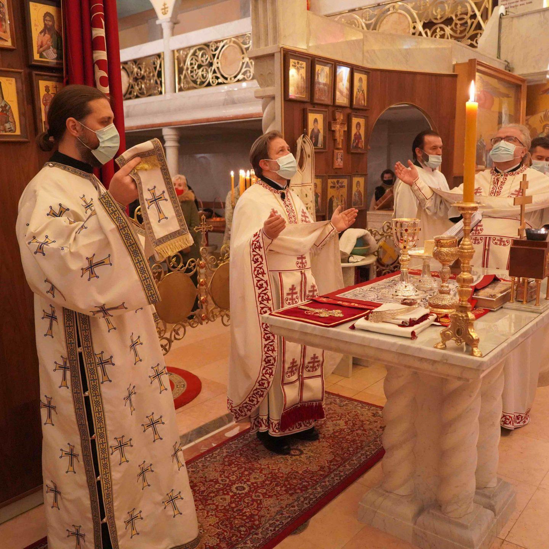 Божић у храму Успења Пресвете Богородице у Цириху