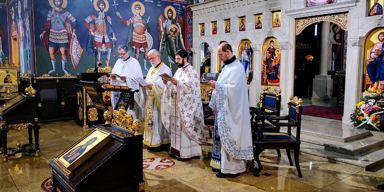 Литургија Светог апостола Јакова у храму Васкрсења Христовог