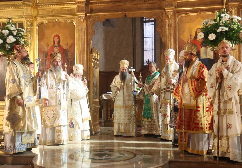 Епископ Андреј на јубилеју Митрополита Хризостома