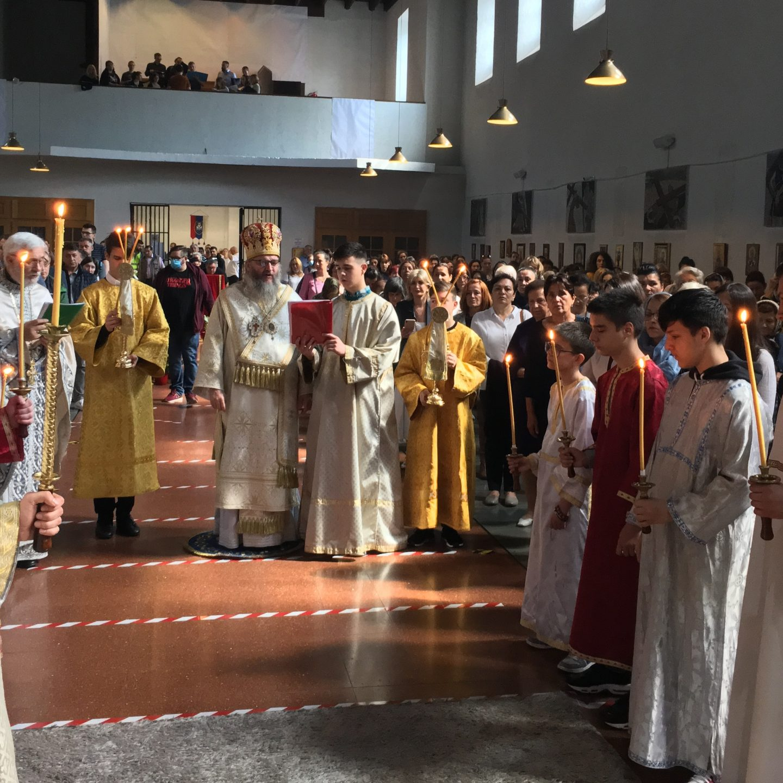 Свечано прослављен празник Силаска Светог Духа у Бечком храму Рождества Пресвете Богородице