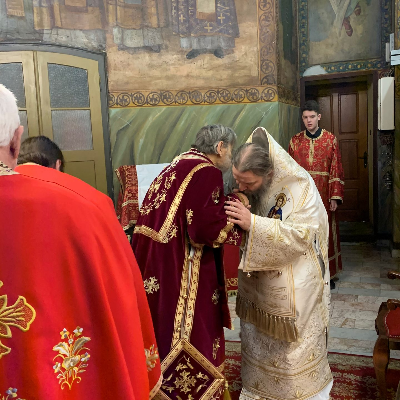 Епископ Андреј на слави Његовог Преосвештенства Епископа шабачког г. Лаврентија