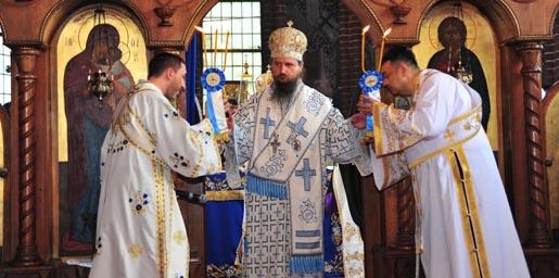 Устоличење епископа средњеевропског Сергија