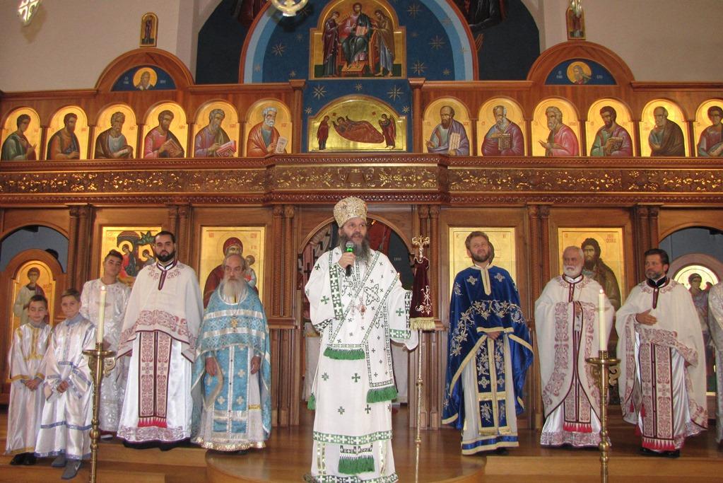 Архијерејска Литургија у цркви свете Тројице у Цириху