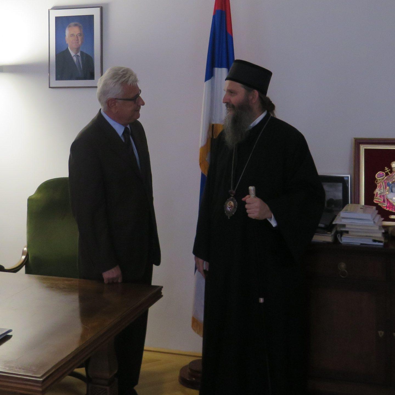 Владика Андреј посетио амбасадора Перу Јанковића