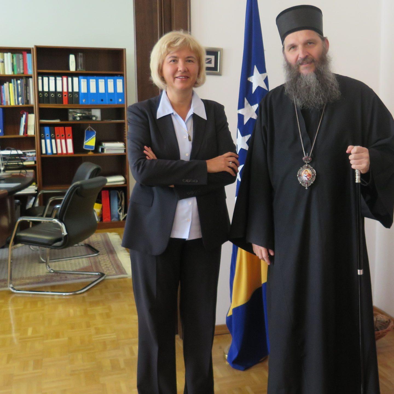 Владика Андреј посетио амбасадорку БиХ