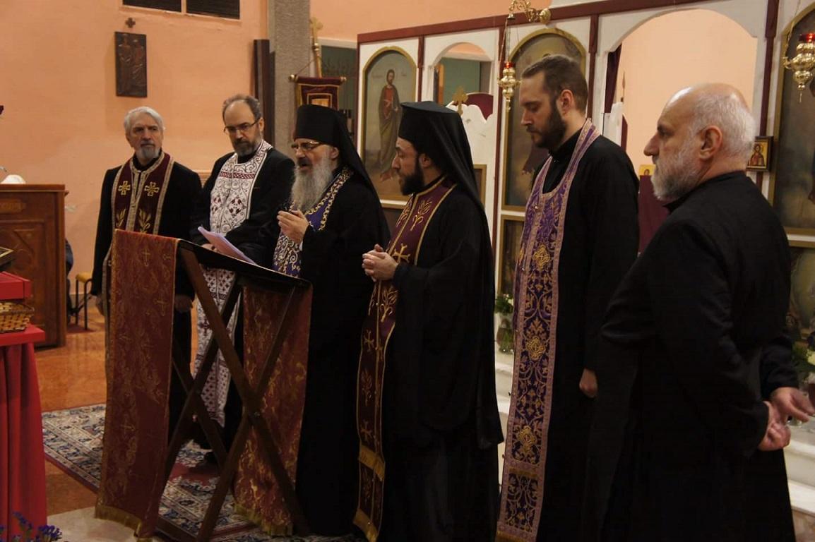 Великопосна вечерња служба у храму Симона Монаха у Милану