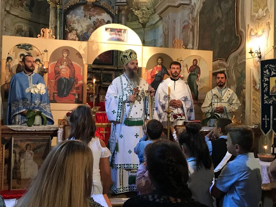 Парохијска слава и посета Епископа Андреја Тићину