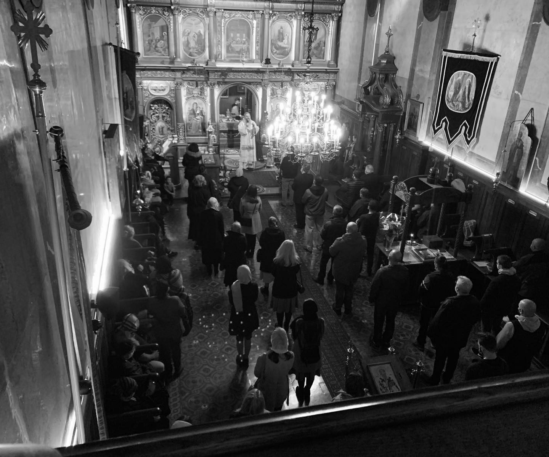 Заупокојена литургија у Саборном храму