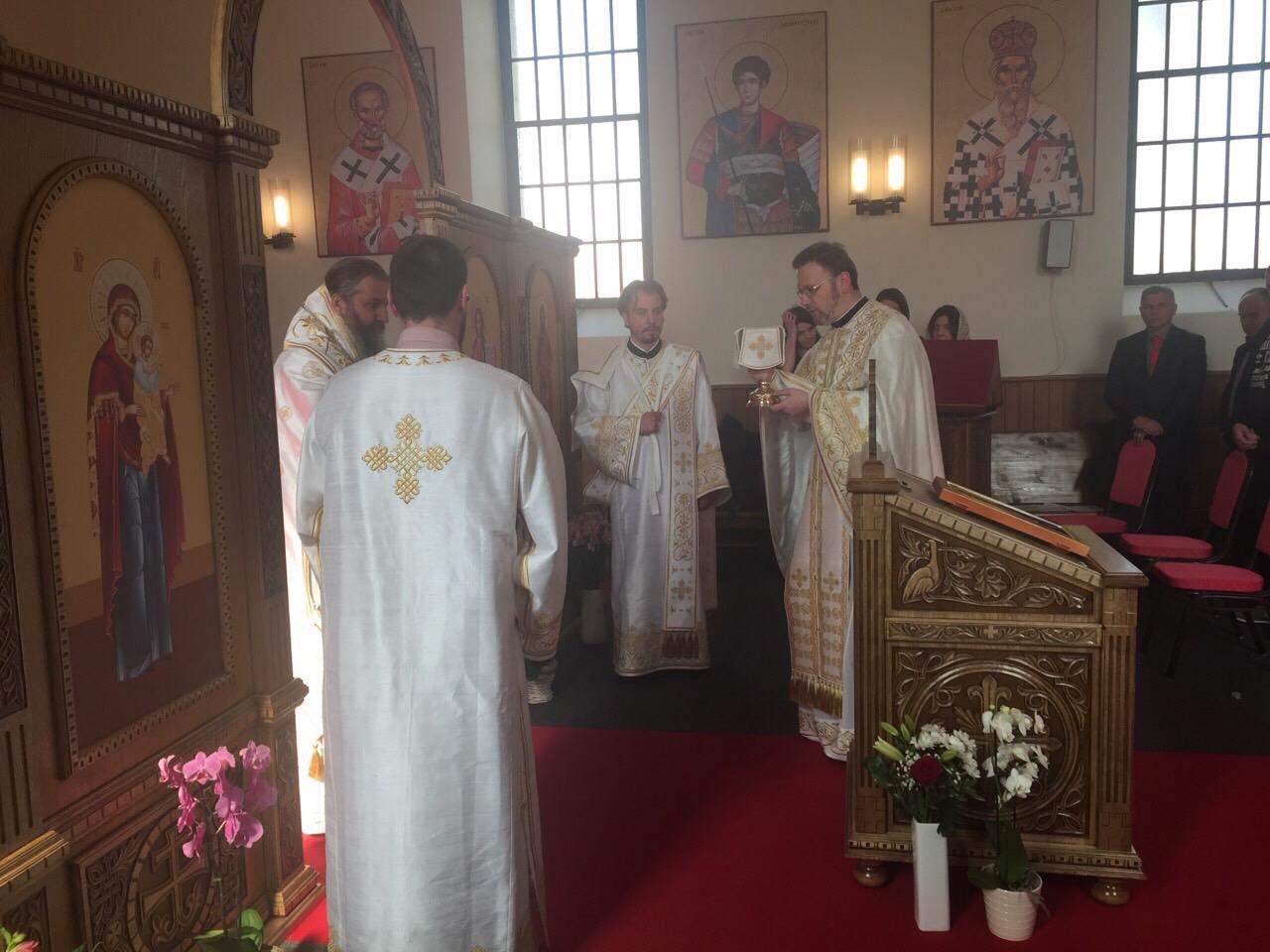 Света архијерејска Литургија у Женеви