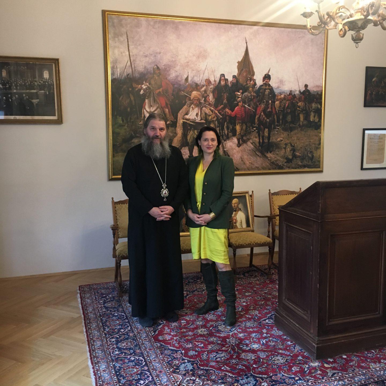 Пријем код Епископа Андреја у Бечу