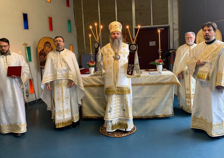 Канонска посета Епископа Андреја парохији Света Три Јерарха у Лозани и Сјеру