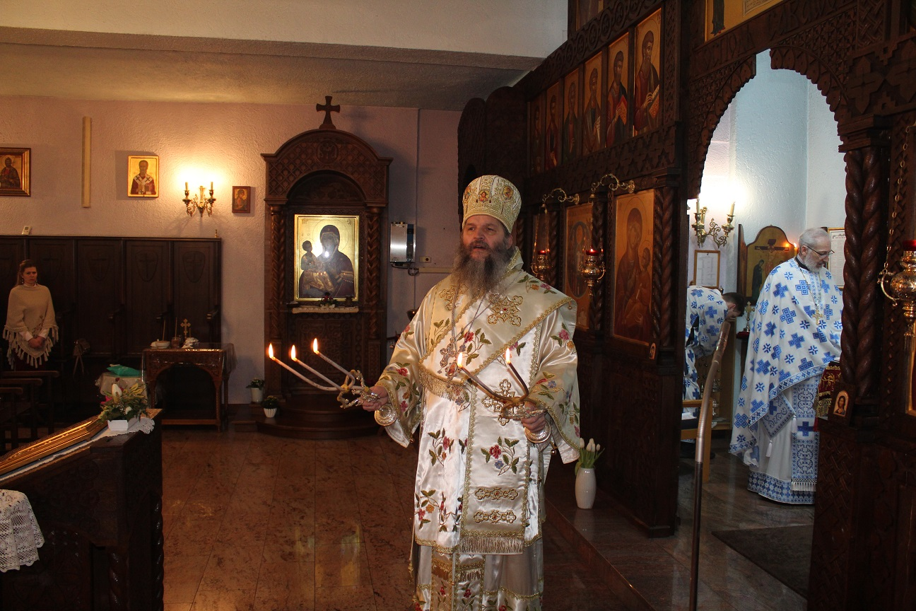 Епископ Андреј у Штутгарту