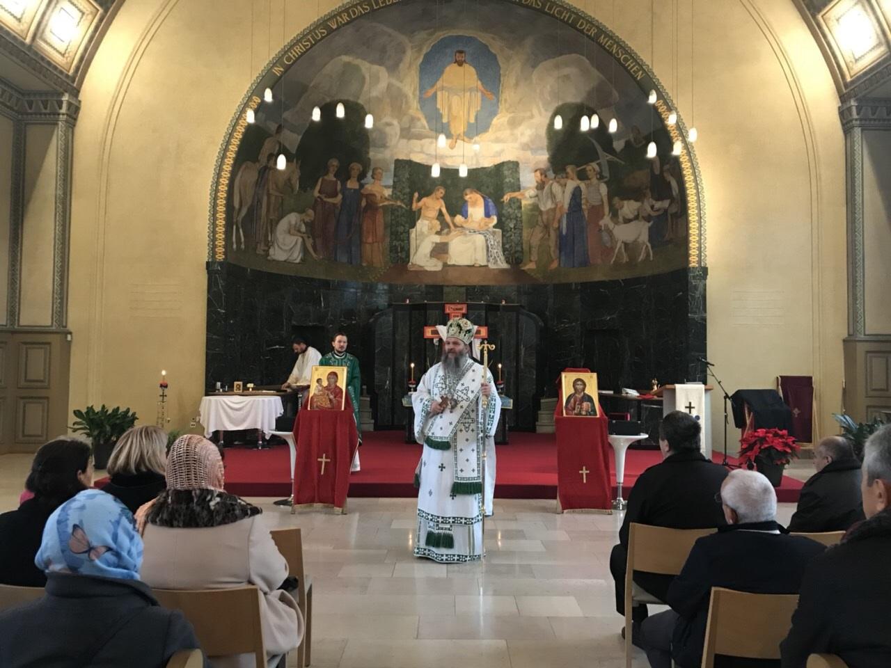 Владика Андреј у канонској посети санктгаленској парохији