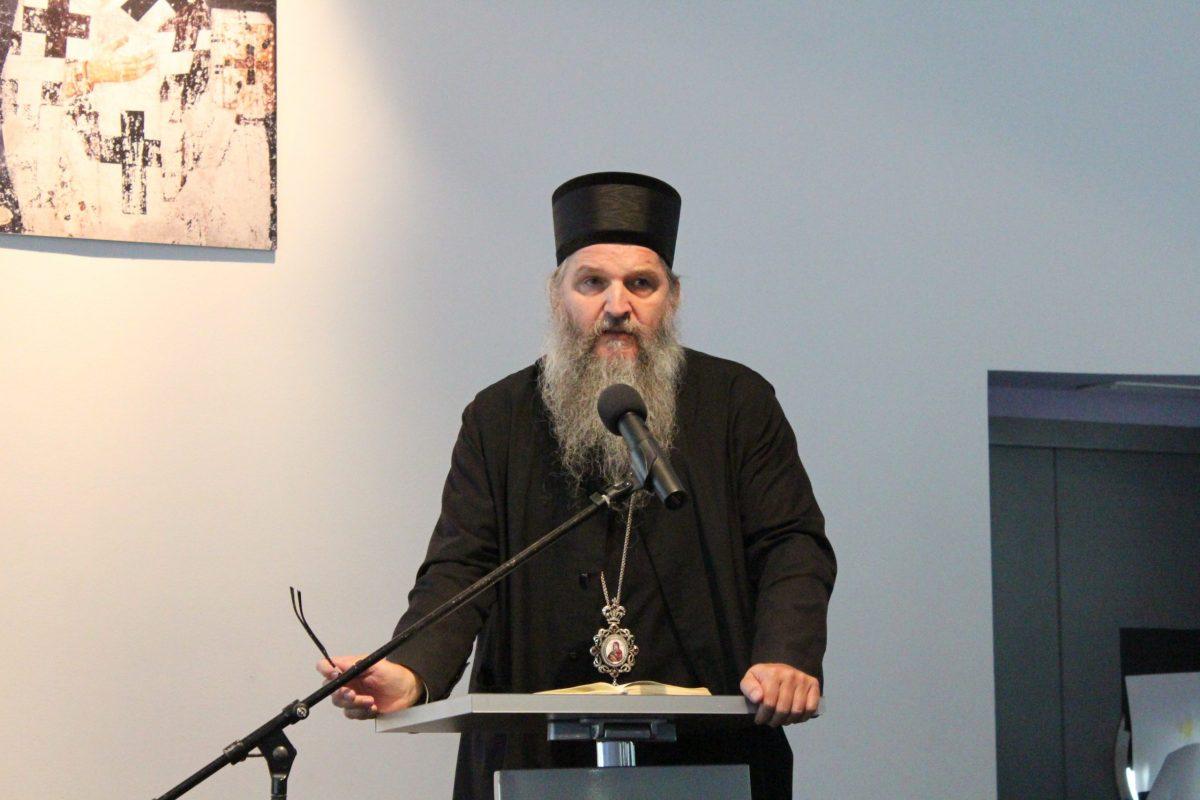 Епископ Андреј на симпосиону у Загребу