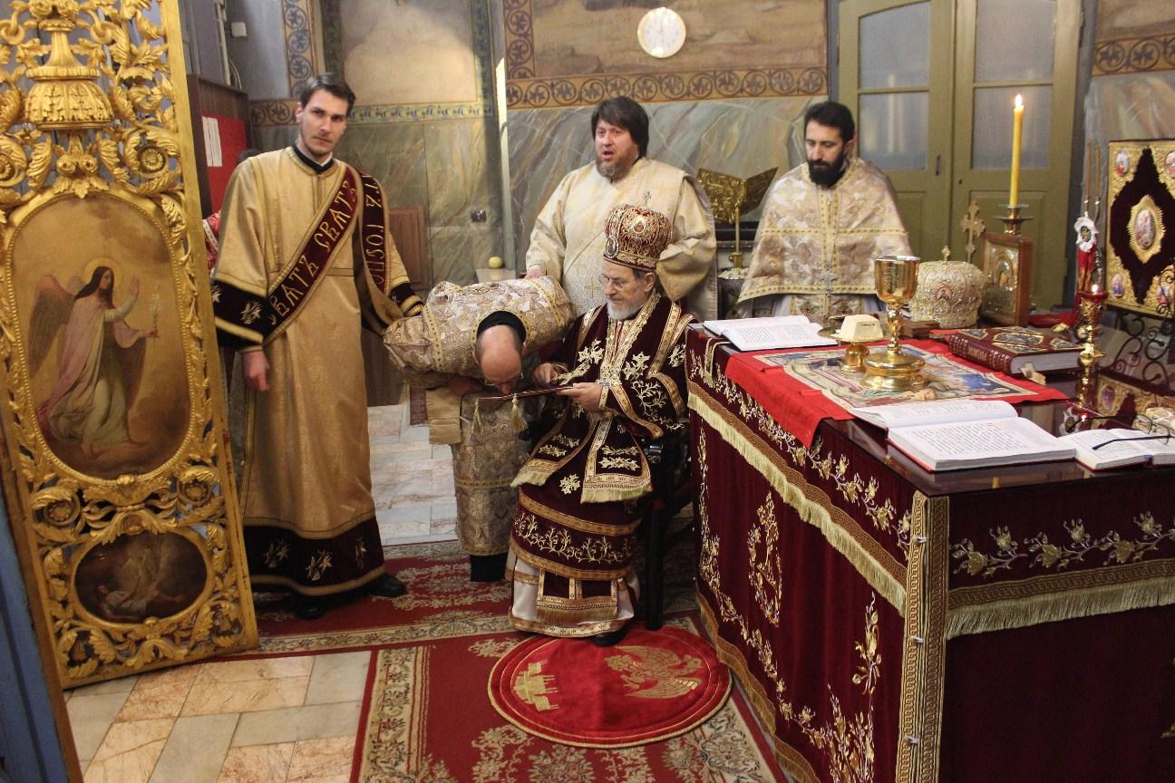 Епископ Андреј на 80. рођендану  Његовог Преосвештенства Епископа шабачког Г. Лаврентија
