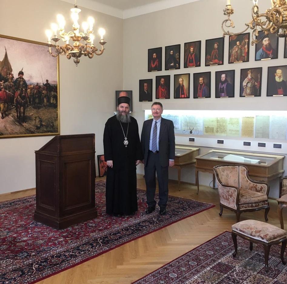 Др Франц Шулер у посети Епископу Андреју
