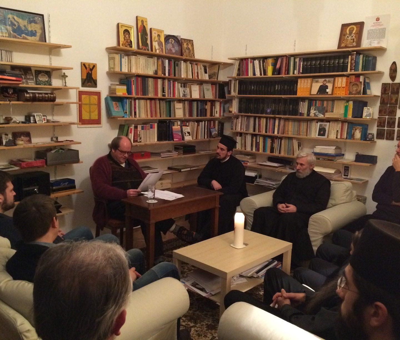 Немачки философ Лаубер у посети Епископу Андреју