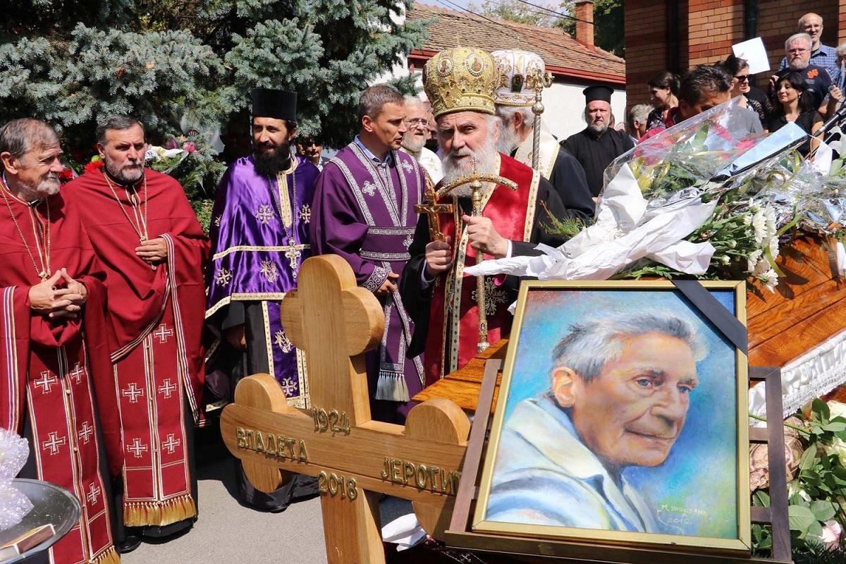 Делегација Епархије аустријско-швајцарске на опелу и сахрани академика Владете Јеротића