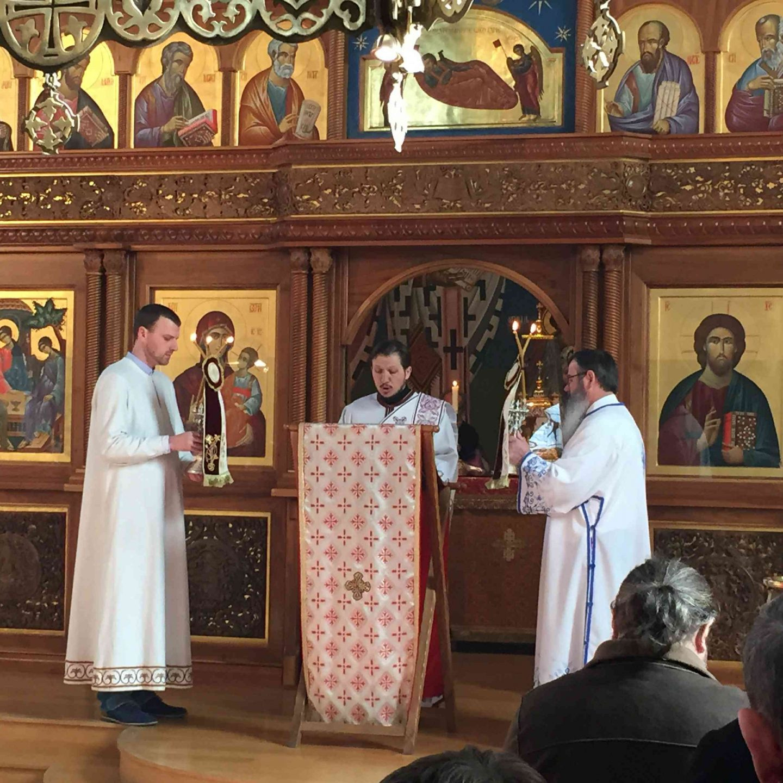 Архијерејска литургија на Пачисту Недељу у храму Свете Тројице у Цириху