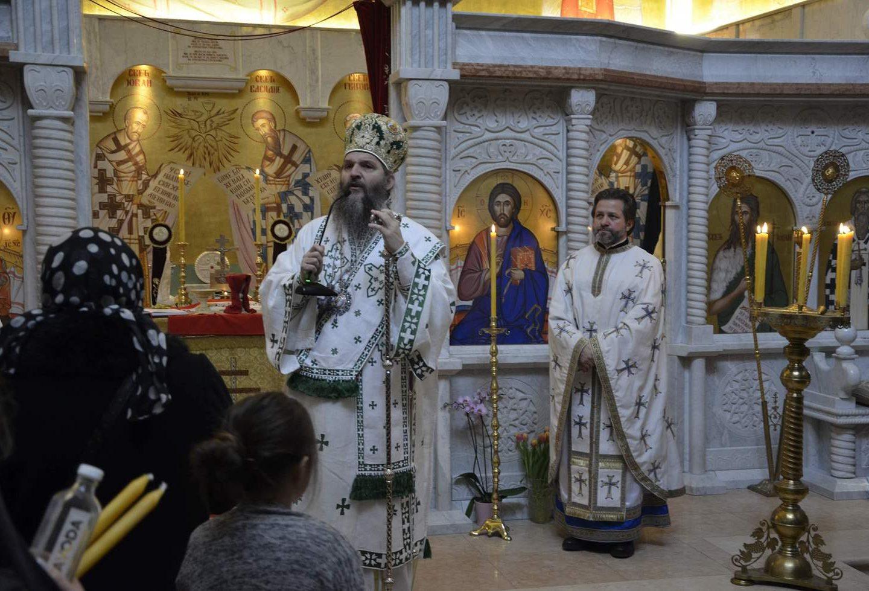 Света Архијерејска Литургија на Богојављење у Светоуспенском храму у Цириху