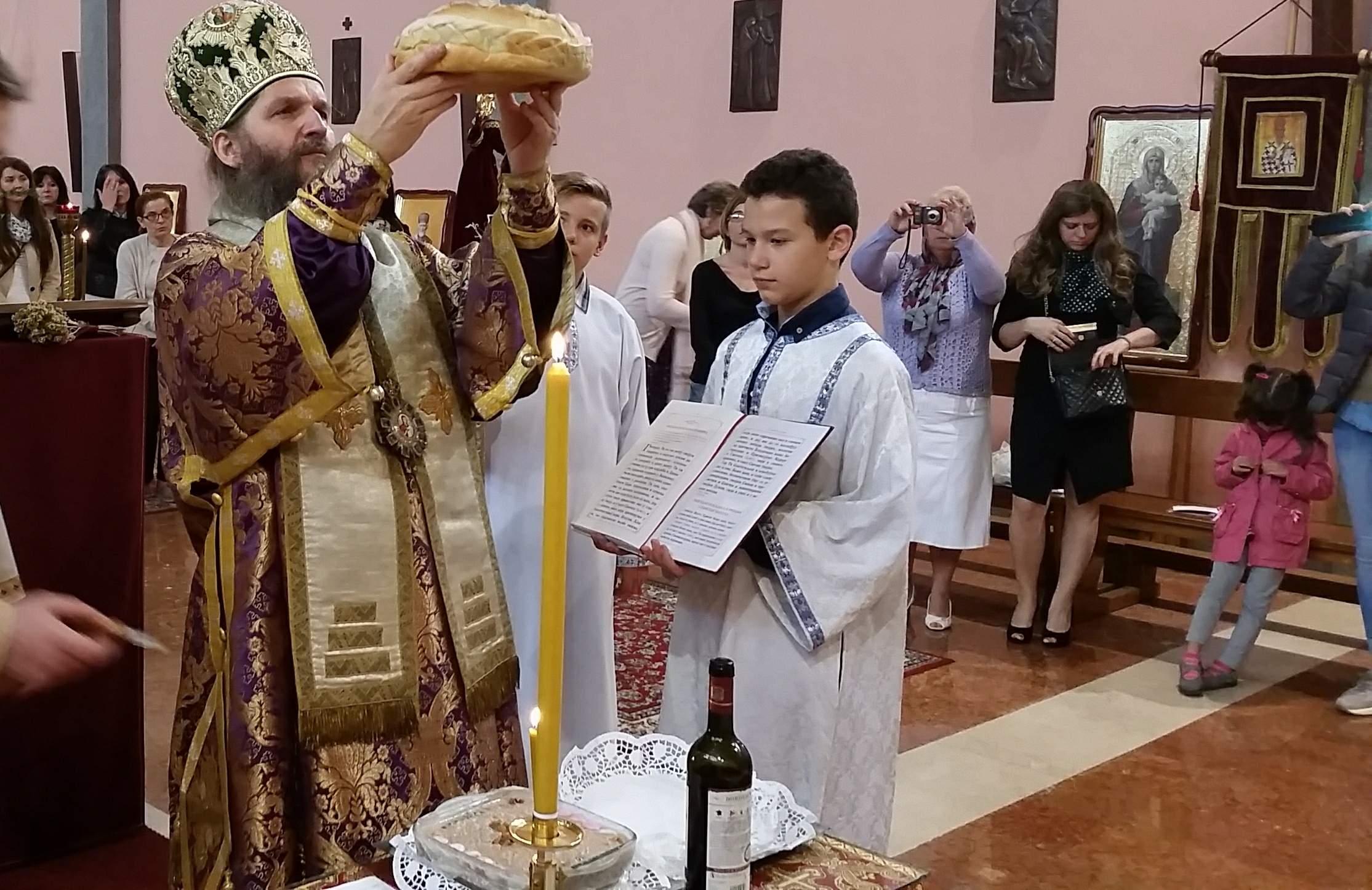 Епископ Андреј у Милану