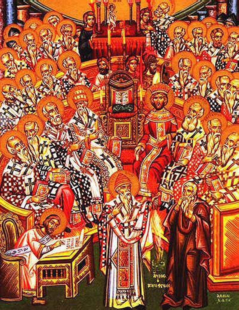 Богослужбене особености Недеље светих отаца Првог васељенског сабора