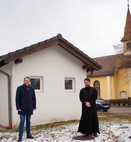 Besuch des Bürgermeisters von Sankt Pölten der Kirche des Hl. Apostel Thomas in Sankt Pölten/Stattersdorf